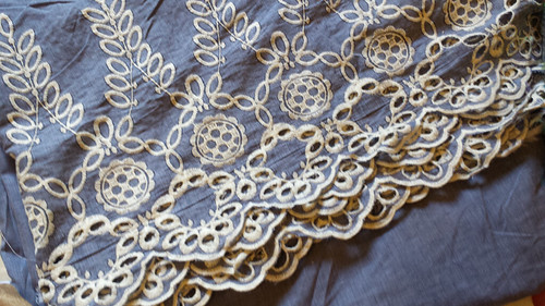 embroidered cotton from DCF