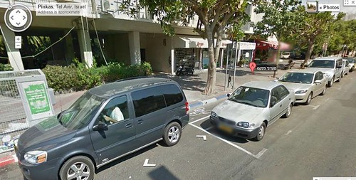 שביל אופניים בפנקס נתקע במכונית חונה