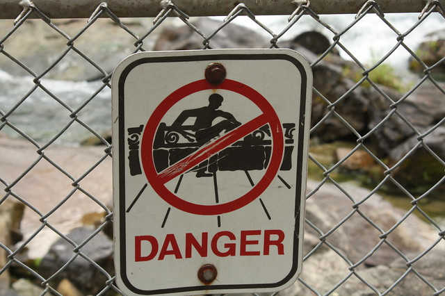 The most prevalent sign in Niagara Falls