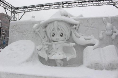 雪ミク2014の雪像