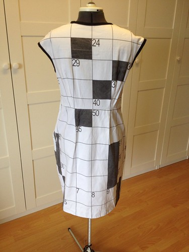 crossword dress #3 back