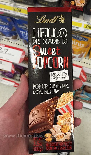 Lindt Hello My Name Is Sweet Popcorn Bar