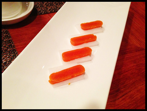Karasumi (Bottarga) on Daikon