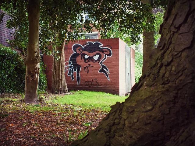 MW Noob Graffiti in Sophia Gardens, Cardiff