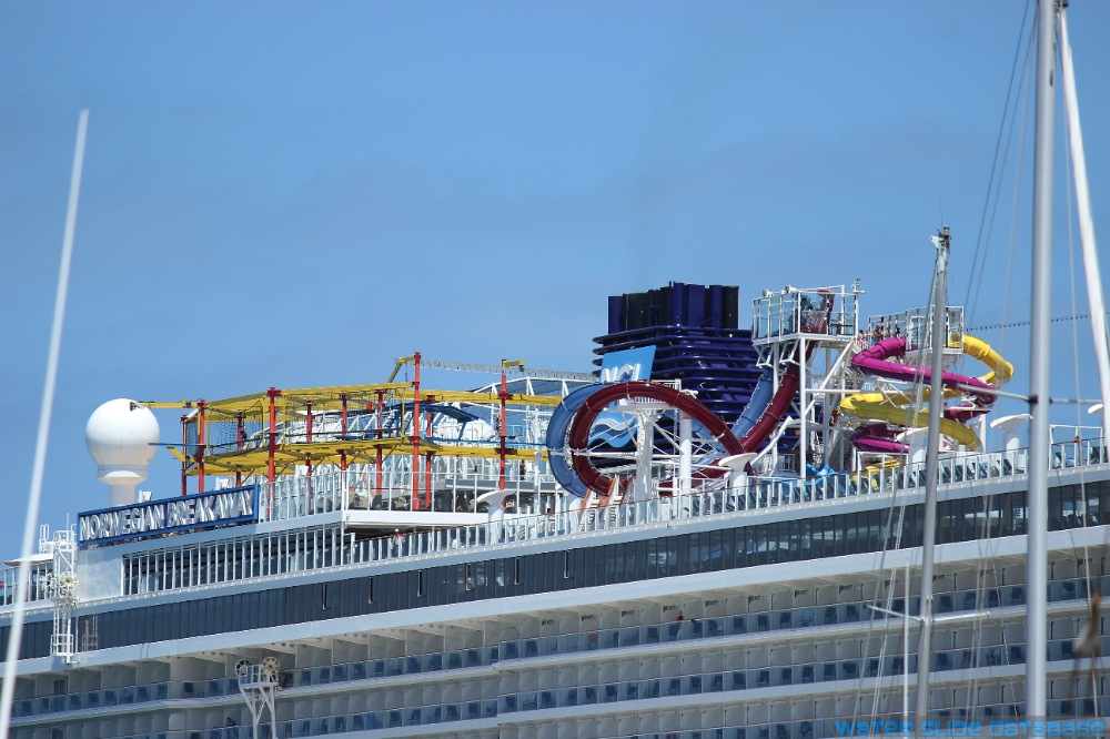 Aquapark and Ropes Course from off of the ship