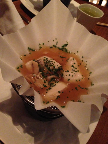 Fish in a salty miso broth