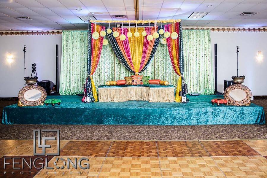 Stage decorations for Muslim wedding at Ashiana
