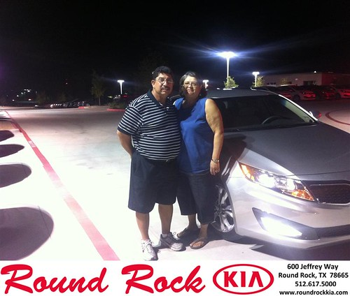 Thank you to Eloy Briseno on your new 2013 #Kia #Optima from Amir Mahboubi and everyone at Round Rock Kia! #NewCarSmell by RoundRockKia