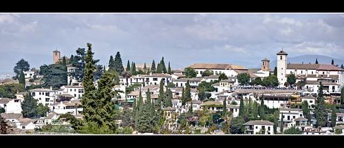 28-29 PANORÁMICA DEL ALBAICÍN DESDE LA ALHAMBRA (Granada)