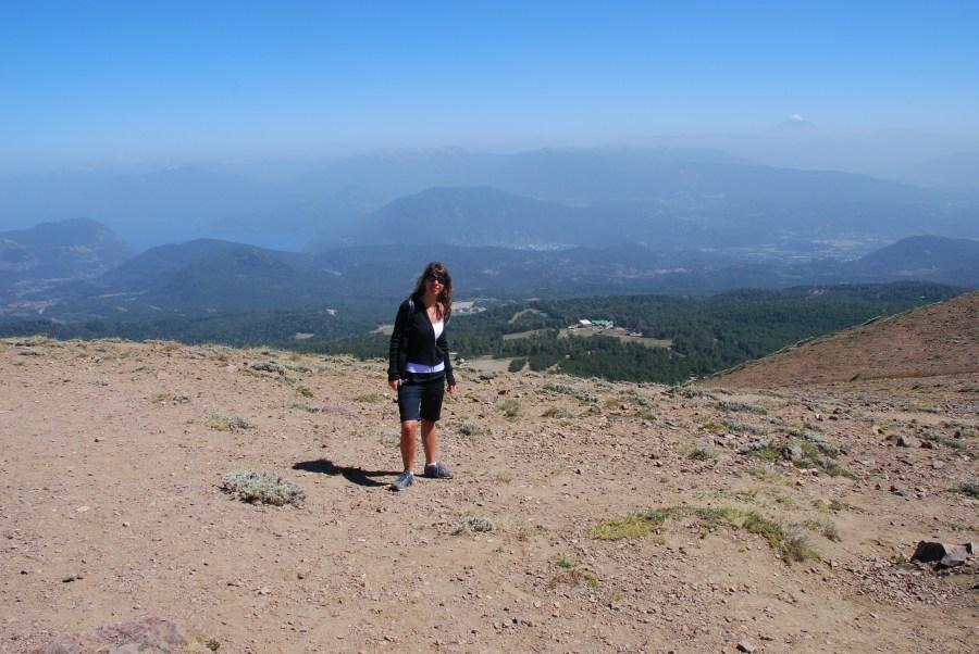 Mari en el cerro Chapelco