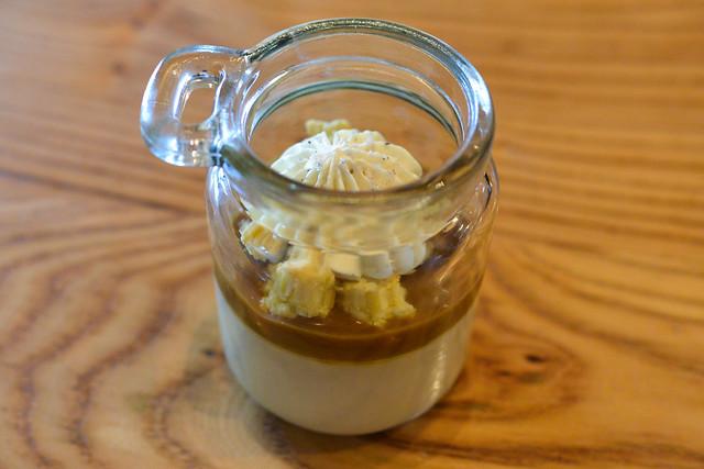 butterscotch budino with moscovado custard & sea salt