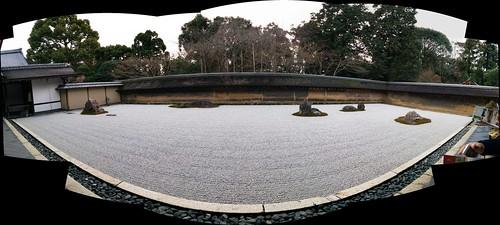 Rock garden at Ryoanji