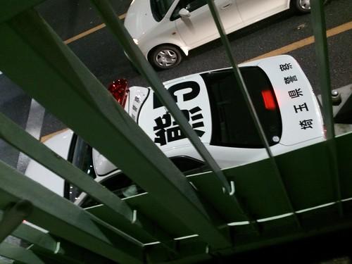 パトカーって上から見るとみんなこんな番号が振ってあんのかな。