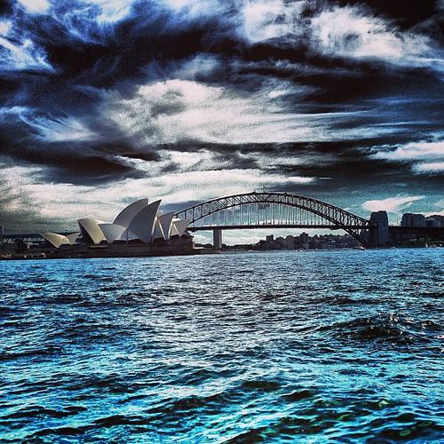 Sydney Opera House and The Harbour Bridge #sydney by @MySoDotCom