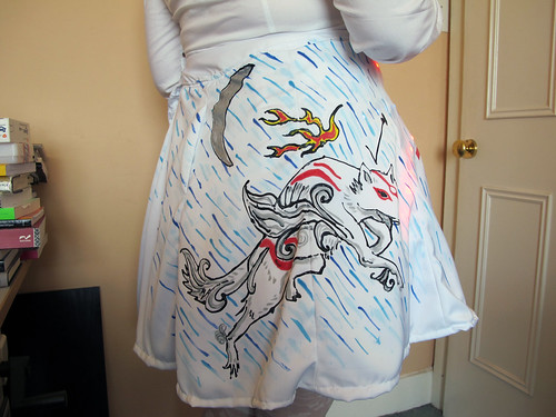 Getting Baroesque Barometric Skirt ready for Smart Textiles Salon