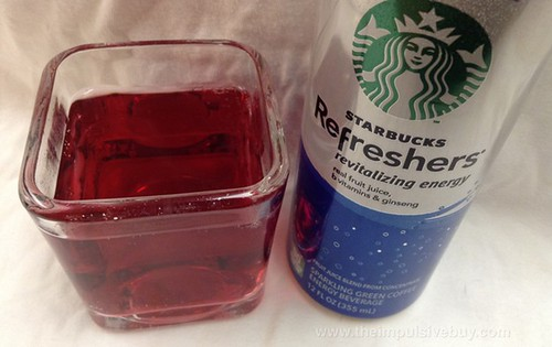Blueberry Acai Starbucks Refreshers Closeup