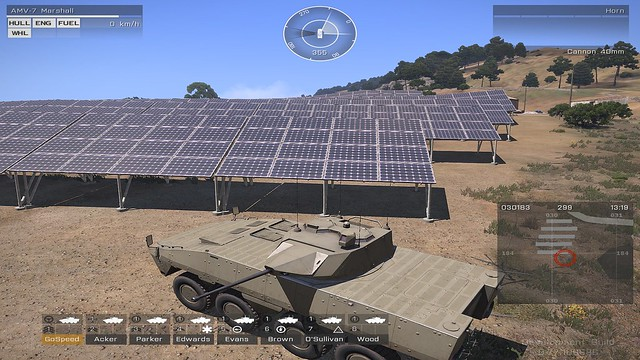 Front of the solar panels