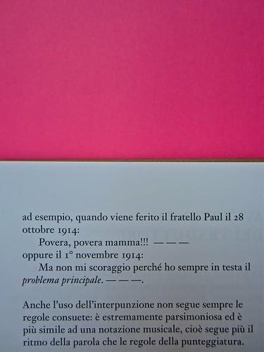 Michael Nedo (a cura di), Una biografia per immagini. Carocci 2013. Progetto grafico di Shoko Mugikura e Michael Nedo. Falcinelli & co. per l'ed. it. Pag. 13 (part.) 2