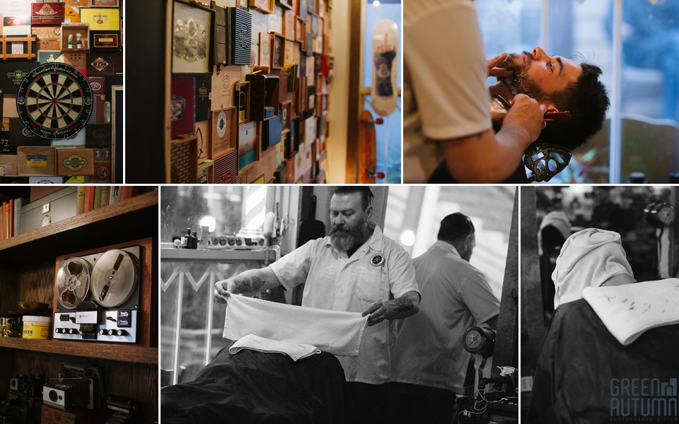 Burlington Village Cigar Company and Barbershop Photography