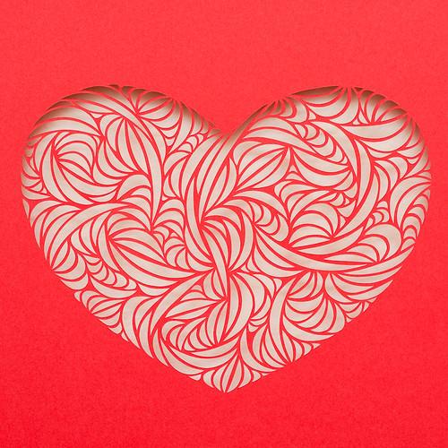 Paper Cut heart