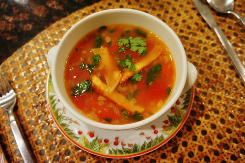 At Home:  Tortilla Soup