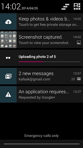 Notifications ของ Huawei Ascend Y600