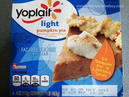 Yoplait Light Pumpkin Pie Yogurt