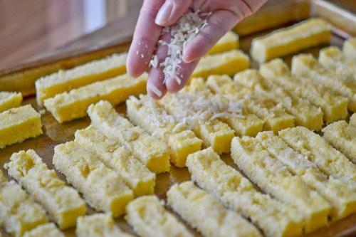 Baked Parmesan Polenta Fries-5