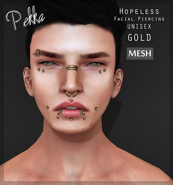 pekka hopeless unisex piercing gold