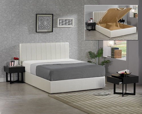 掀床工廠推薦款-唯美床組-高質感排骨透氣床架組