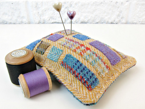 Tweed pincushion 2