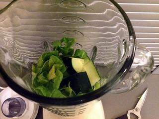 Cucumber sorrel gazpacho