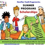 This just in from community sponsor Goal Net Inc. .  We are  offering 3 scholarships for the NewFlex summer camp program,  to qualify for scholarships, youth must write an essay explaining their community involvement,  school attendance, punctuality, and