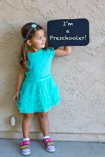 I'm a preschooler!