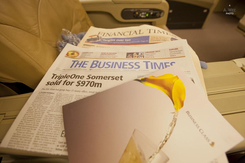 Menu and Newspaper