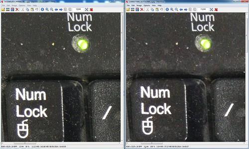 (ซ้าย) รูป 50 ล้านพิกเซลแบบ 50% เทียบ (ขวา) รูป 13 ล้านพิกเซล ของ Oppo Find 7a ทั้งคู่