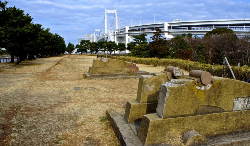 Canon ruins at the Third Daiba