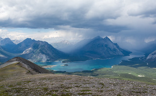 Storm in the north over Spray Lakes