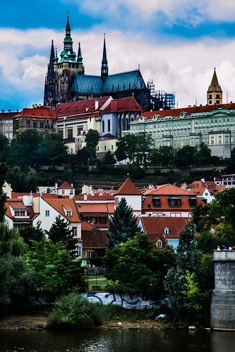 Prague Castle above the Vltava River