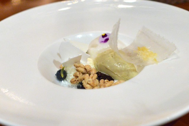 Huckleberry and Fromage Blanc Parfait banana ice cream