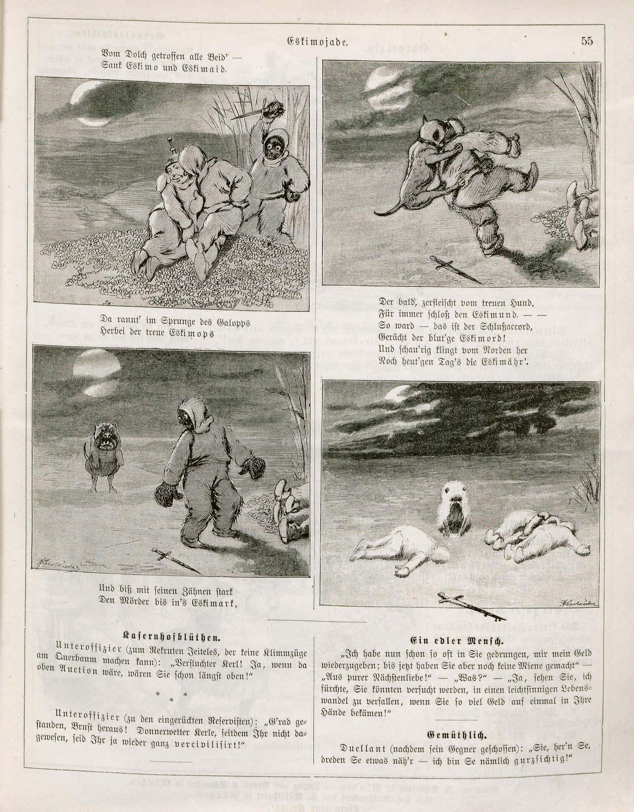 Adolf Oberländer, Eskimojade, Fliegende Blätter 1889, 2