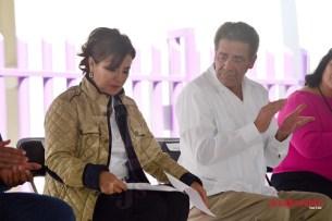 De visita en San Luis Potosí, la titular de la Secretaría de Desarrollo Social (Sedesol) Rosario Robles Berlang