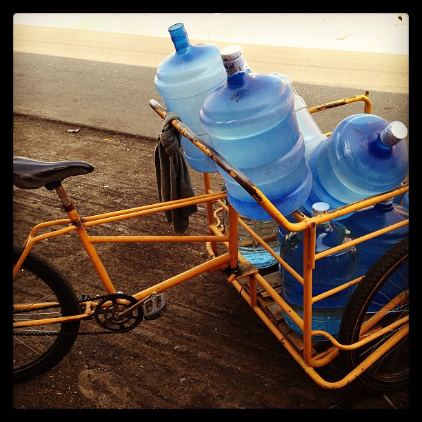 Drinking water delivery bike