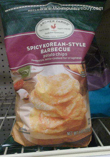 archer farms spicy korean-style barbecue potato chips
