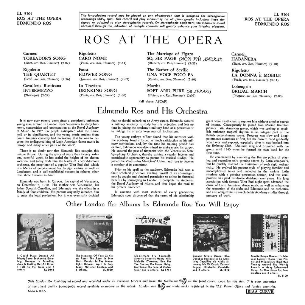 Edmundo Ros - Ros at the Opera