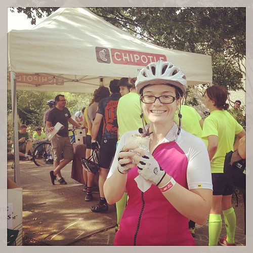 Our riders love @chipotle! Thanks for the burritos!
