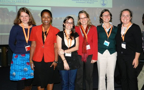 Women's power! The five female presenters in the session on food safety (from left to right): Kristina Roesel, Fortunate Shija, Claire Geoghegan, Kim Rock, C. Tessier and session chair Professor Anita Michel (photo credit: Claire Geoghegan)