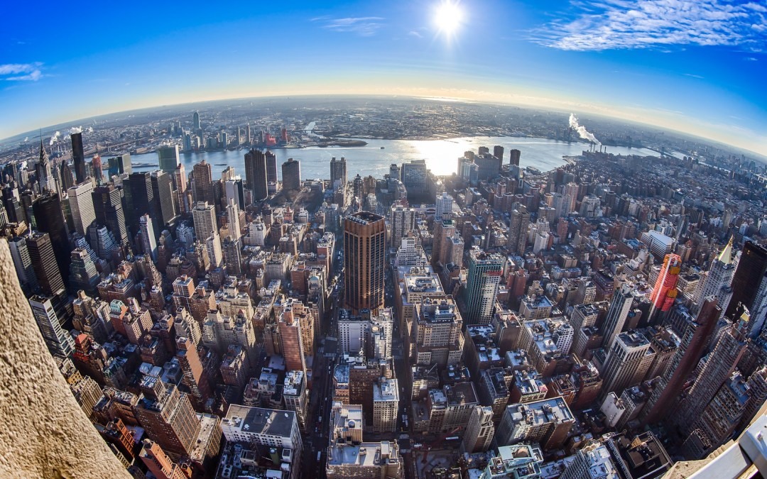 NY Fisheye Sunrise