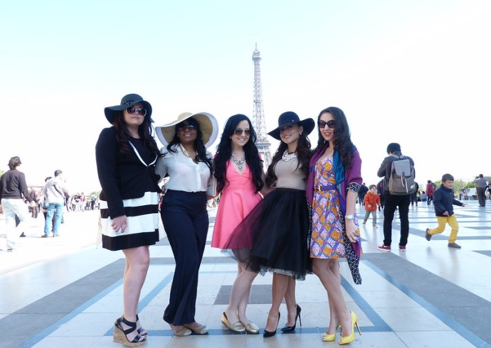 Girls fashion photo shoot in Paris