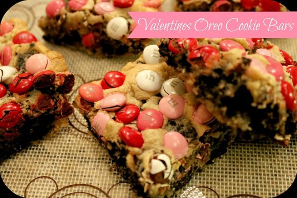 Valentines Oreo Cookie Bars